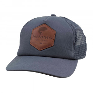 Simms Leather Patch Trucker Cap Kappe anvil