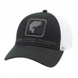 Simms Bass Icon Trucker Cap schwarz