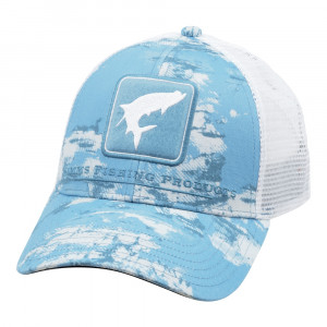 Simms Tarpon Icon Trucker Cap Small Fit blue cloud camo Kappe