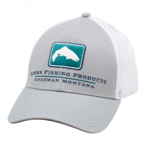 Simms Trout Icon Trucker Cap Small Fit granite Kappe
