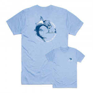 Simms TShirt Bow to the King light blue
