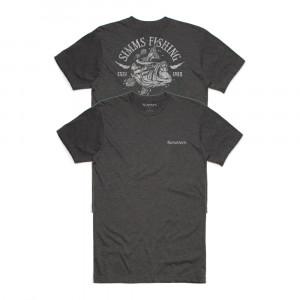 Simms T-Shirt Lightning Bass charcoal heather