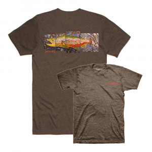 Simms DeYoung Brown Trout TShirt brown heather
