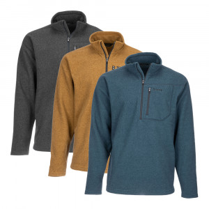 Simms Rivershed Quarter Zip Sweater Pullover