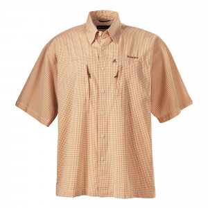 Simms Hemd Striper Check Shirt orange zum Fliegenfischen bei Flyfishing Europe