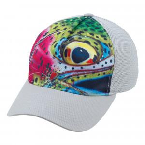 Simms Angebot Flexfit Trucker Cap reduziert Rainbow Trout grau reduziert zum Fliegenfischen bei Flyfishing Europe