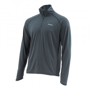 Simms Ultra-Wool Core viertel Zip Top raven