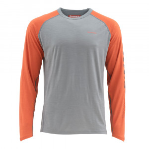 Simms Ultra Wool Core Top simms orange