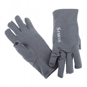 Simms Ultra Wool Core 3 Finger Liner Glove Handschuhe carbon