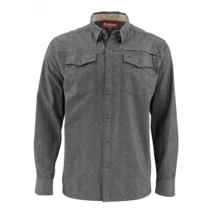 Simms Hemd Stillwater Shirt Chambray charcoal