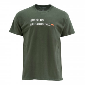 Simms Rain Delays T-Shirt hunter green