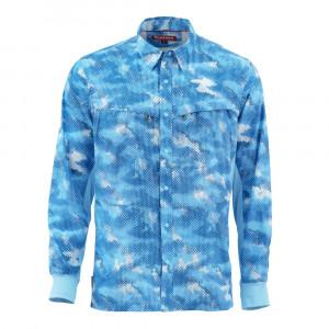 Simms Intruder Bicomp Shirt Hemd hec camo sky blue
