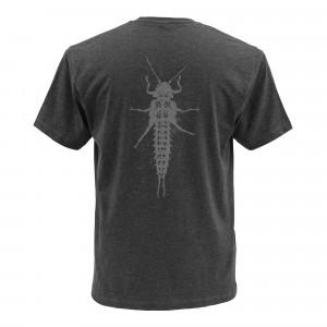 Simms T-Shirt Salmonfly Charcoal zum Fliegenfischen bei Flyfishing Europe