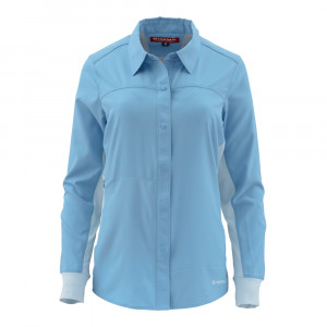 Simms Womens BiComp Hemd LS Shirt faded denim