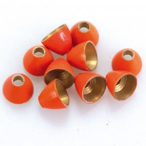Cone Heads aus Messing fl. orange zum Fliegenbinden unter Fliegenbindematerial bei FFE