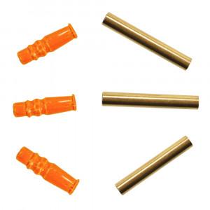 Tungsten Tuben gold und fluo orange