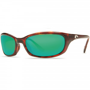 Costa Harpoon tortoise green mirror Polbrille