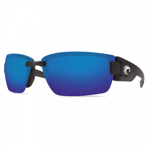 Costa Rockport black blue mirror Polbrille