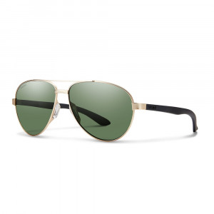 Smith Optics Salute Carbonic Polarisationsbrille matte gold / grey green