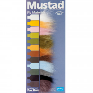 Mustad Fox Hair 12er Set zum Fliegenbinden unter Fliegenbindematerial bei Flyfishing Europe