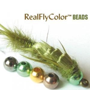RealFly Color Beads Goldköpfe reduziert Sonderangebote zum Fliegenfischen bei Flyfishing Europe