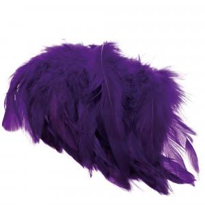 Schlappen Federn purple