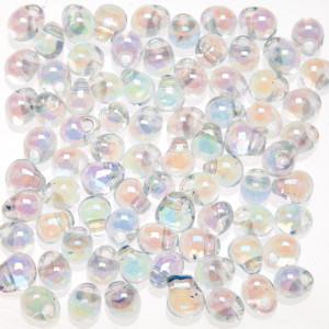 Hump-Bak Glass Beads clear rainbow zum Fliegenbinden unter Fliegenbindematerial bei FFE