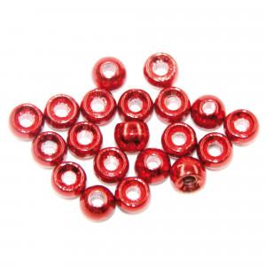 Tungsten Perlen Standard met. rot zum Fliegenbinden unter Fliegenbindematerial bei Flyfishing Europe