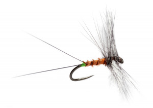 Crostons Cripple Spinner Trockenfliege barbless Fulling Mill
