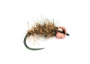 Barbless Tungsten Haress Ear Copper Nymphe