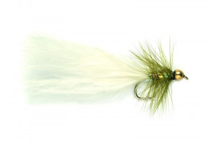 Nugget Dancer olive white Streamer