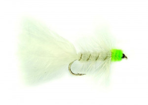Woolly Bugger White and Green Streamer