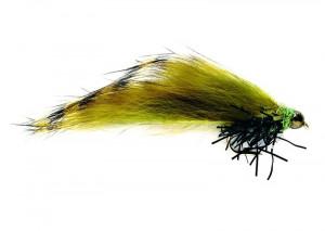 SR Black Tipped olive Zonker Streamer 10