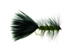 Woolly Bugger Olive Weighted Streamer