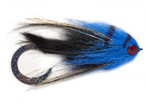 Paolos Wiggle Tail Bunny black blue Hechtstreamer Fulling Mill