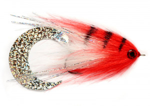 Paolos Wiggle Tail Bunny red white Hechtstreamer Fulling Mill