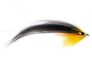 RS Black Yellow Solar Monkey Tube Fly Lachstubenfliege
