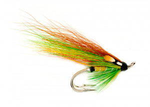 Green Highlander Double Hook Doppelhaken-Lachsfliege Fulling Mill