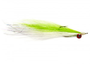 Deep Water Clouser Chartreuse and White Salzwasserfliege