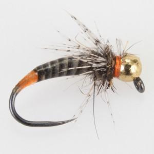 Magic Quill Nymphe orange Tag GAGA Flies