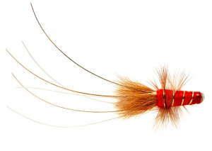 Red Francis Salmon Tube Fly Lachstubenfliege