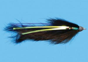 Dali Lama Black/Olive Size 2, Fliege zum Fliegenfischen auf Pazifiklachs & Steelhead bei Flyfishing Europe