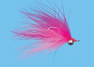 Deep Six Salmon Pink Size 2, Fliege zum Fliegenfischen auf Pazifiklachs & Steelhead bei FFE