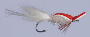 Gurgler rot/weiß Größe 3/0, Salzwasserfliege Gurgler zum Fliegenfischen im Salzwasser bei Flyfishing Europe
