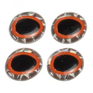 Bauer Epoxy Eyes oval 16mm schwarz/silber