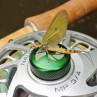 Maifliegen scheinen sie wirklich zu mögen... die Nautilus Mirjana Pavlic´s MP Limited Edition Fliegenrollen zum Fliegenfischen bei Flyfishing Europe