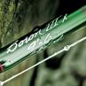 Die Beschriftung einer Winston Boron III X Fliegenrute auf dem edlen grünen Blank.