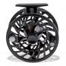 Hawking Fliegenrolle V schwarz, Frontansicht, zum Fliegenfischen bei Flyfishing Europe