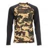 Simms Lightweight Baselayer Top Shirt CX Woodland camo
