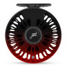 Abel Super 5 6 Fliegenrolle Black Fade Red